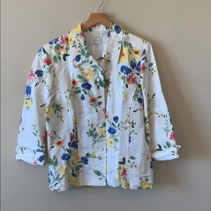 Emma James Floral Button Up Jacket
